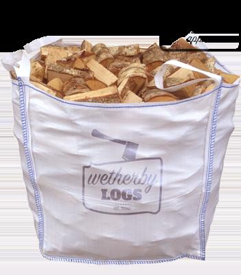 Bulk Bag (1m³) of Sustainably Sourced Hardwood Logs